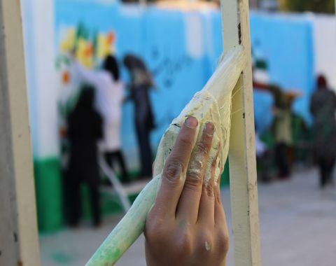 حضور دانش آموزان هیئت اخلاص دبیرستان های دخترانه در اردوی جهادی روستای اسماعیل آباد